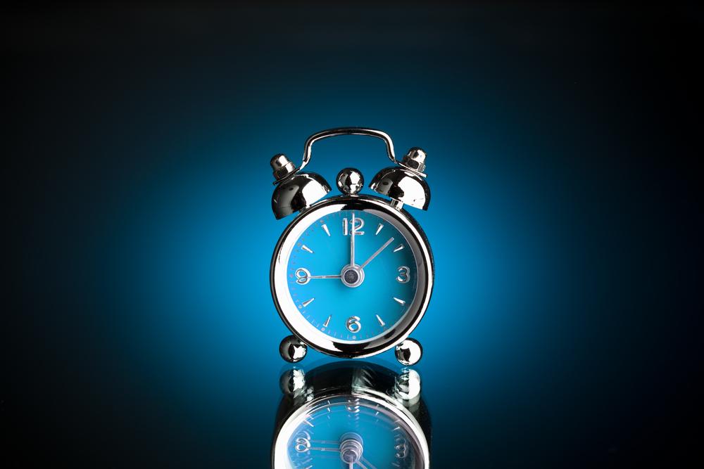 stylized alarm clock