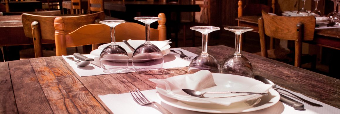 Restaurant Table Set for Diners